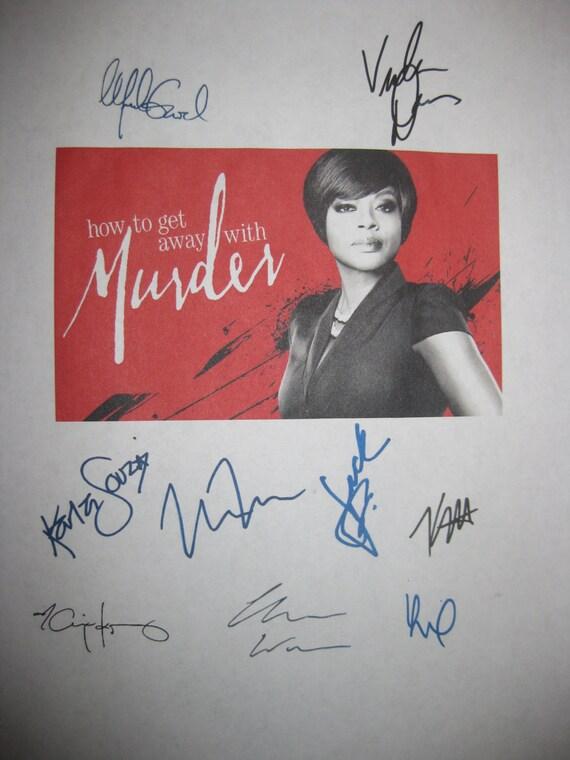 How to get away with Murder Signed TV Screenplay Script X9 Viola Davis Alfred Enoch Jack Falahee Katie Findlay Aja Naomi King Matt McGorry