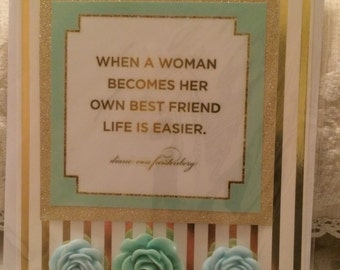 Handmade card with quote