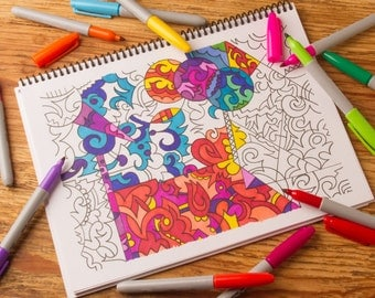 Ahhh...Abstract A Coloring Book