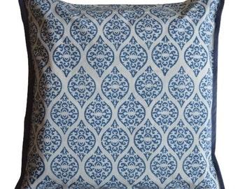 Hand Block Printed Cotton Geometrical Printed 5 Cushion Covers (1 Set)