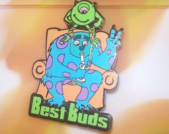 """Monster Dabs """"Best Buds"""" Pin"""