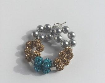 Double clay bead bracelet