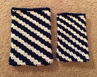 Handmade wool case for either tablet or cell phone
