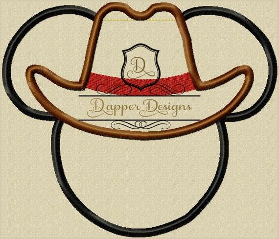 Cowboy mouse machine embroidery applique design use coupon