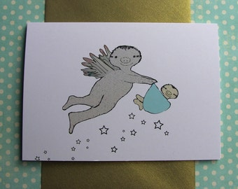 Congratulations on Your Baby Boy Sloth Card