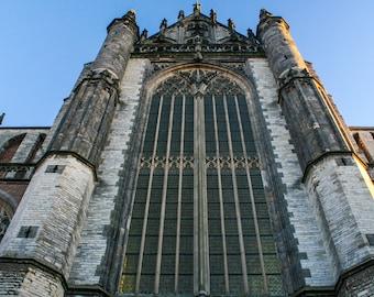 Dutch Church. Leiden. Amsterdam. Netherlands. Travel Photography. Fine Art Print. Wall Art. Home Decor. Hooglandse Kerk.