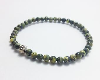 Yellow turquoise bracelet 4mm yellow turquoise bead Simple bracelet Bead bracelet