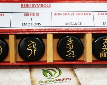 Reiki Symbols:-Meditation-Natural stone with symbols- Reiki stone symbols-Reiki stone symbol set-Reiki healing-Reiki symbols
