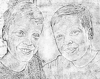 Photo to pencil drawing, pet drawing, children drawings loved ones pencil sketch