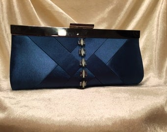 Royal Blue Clutch with Embellishment