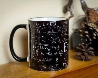 Mathematics Mug cup Maths Science Equations Formulas Teacher Novelty Gift