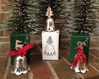 Vintage Silver Bells by International Silver (set of 3)
