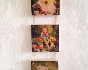 Personalised wooden wall hanging; canvas photo; canvas wood photo; wooden hanging photo block; photo on wood; family photo wall art