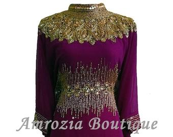 Luxury Farasha Abaya Jalabiya Jilbab Kaftan Maxi Dress