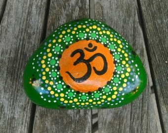 Om Stones, Hand Painted Rock