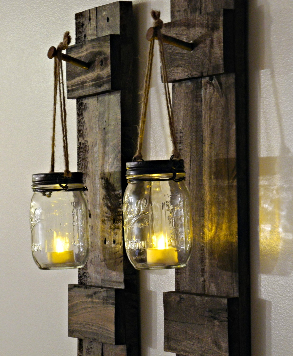 Rustic Wall Sconces: Rustic Candle Holder Rustic Home Decor Sconce By