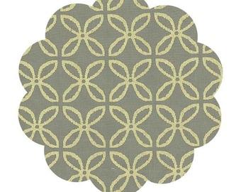 Clover print earth fabric. Metallic cotton fabric. Gold metallic fabric. Apparel/ quilt cotton fabric. DIY sewing fabric. Glitz fabric.