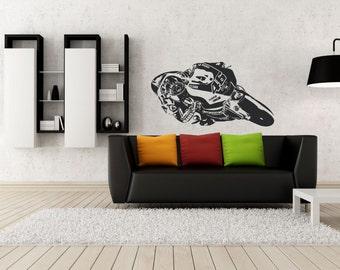 El Doctor - Valentino Rossi- Vinyl Wall Decal -Motorcycle - Moto GP