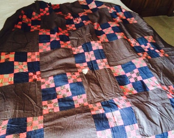 Vintage Nine Square Quilt Top