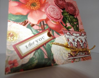 Rose lover, traditional love, anniversary or Valentine's Day card