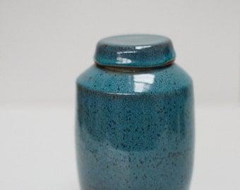 Blue Celadon lidded jar