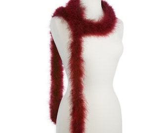 Burgundy 25 Gram Marabou Feather Boas - Use as Trim or Wear as a Scarf