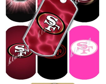 7 49ers  Mix Dog Tags Images Photo Quality 4x6 Sheet Digtal Download Printable Football Team
