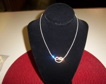 Beautiful Love knot necklace