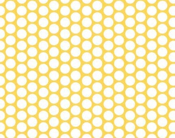 Yellow Honeycomb Flannel by the Yard - Yellow Fabric Flannel Riley Blake Designs - Yellow Polka Dot Fabric- Flannel Fabric- Flannel Material