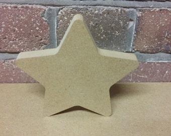 Freestanding MDF star shape