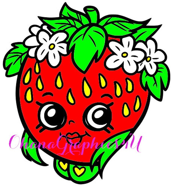 Shopkins inspired strawberry kiss by ohanagraphics4u on etsy