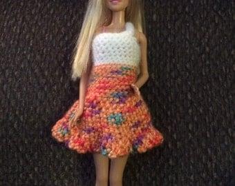 Sundress doll dress Barbie crochet