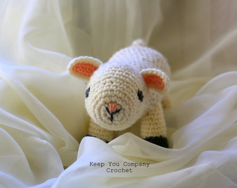 Quincy the Amigurumi Lamb Plush - Baby Safe Toy - Plush Lamb - Plush Lamb - Plush Lamb - Plush Lamb - Plush Lamb - Lamb Plushie - Lamb Plush