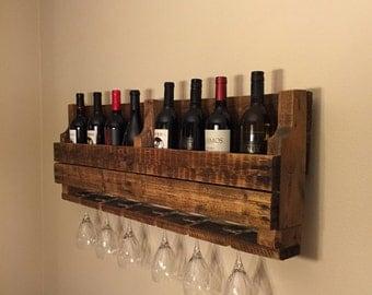 Wine Bottle and Wine Glass Rack