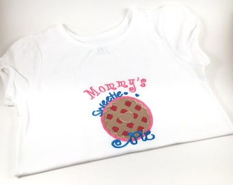Personalized Mommy's Sweetie Pie Shirt, Monogrammed Mommy's Sweetie Pie Shirt, Embroidered Mommy's Sweetie Pie Shirt, Custom Sweetie Pie Tee