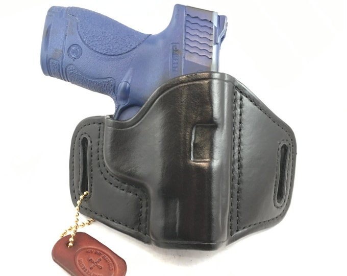 S & W MP Shield 9MM/.40 (zero cant) - Handcrafted Leather Pistol Holster
