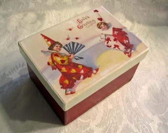Victorian Style Gift Box / Valentines Day Gift Box / Handmade Gift Box