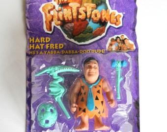 Hard Hat Fred Flintstone. FLINTSTONES Action Figure. John Goodman. 1993. Mint. MOC