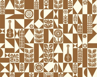 SALE 5% OFF - Samba Geo - Ipanema - Birch Fabrics - Organic Cotton - Poplin by the Yard