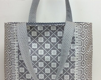 Misty Day Grey Cotton Tote Bag