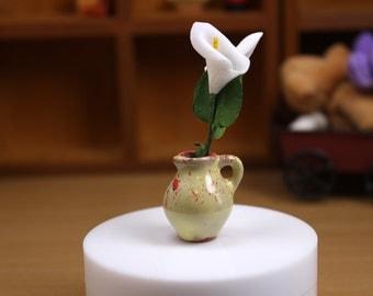 D037C Ceramics Vase Doll Miniature Dollhouse Diorama Display Blythe Barbie Fashion Royalty Momoko Azone