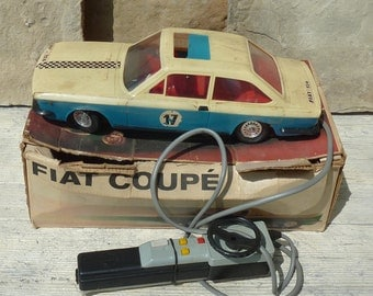 Vintage Anker Fiat Coupe Fiat 124 Model Car Battery Operated 1:15 Scale Vintage German Toy Car