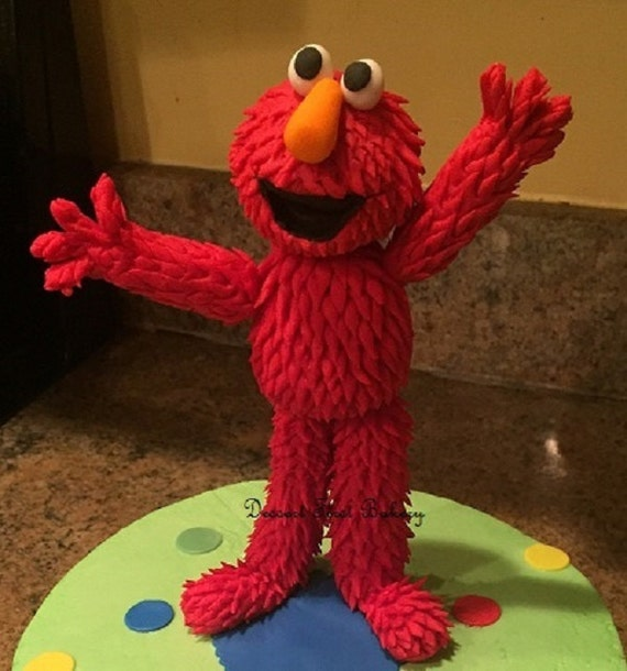 Fondant Elmo Cake Topper by DessertFirstBakery on Etsy