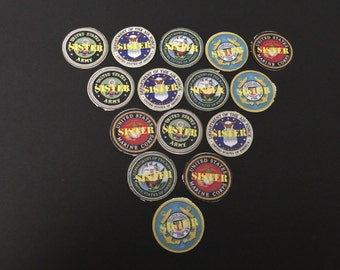 Military Sister Buttons Set of 15