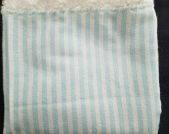 Baby blue and white stripes