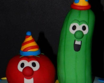 Veggie Tales Fondant Cake Toppers