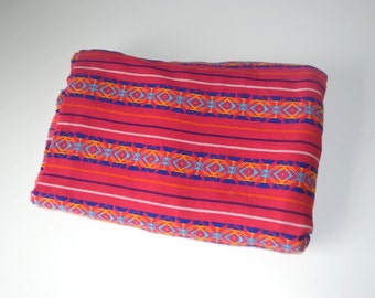 Pink aztec Mexican Fabric ( half yard)