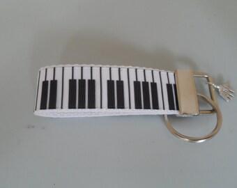 Piano Keys Handmade Fabric Keyfob