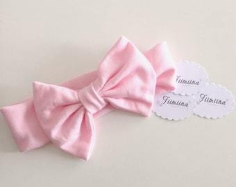 -Pink - baby bow headband