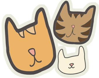 cats! Sticker